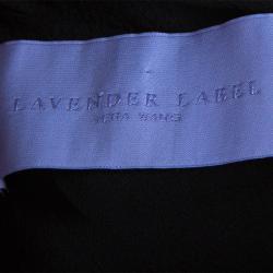 Lavender By Vera Wang Black Flower Detail Dress M