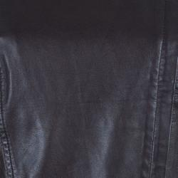 Weekend Max Mara Brown Leather Biker Jacket M