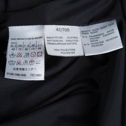 Weekend Max Mara Black Padded Nylon Overcoat M
