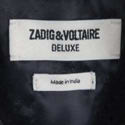 Zadig & Voltaire Deluxe Black Fringe Detail Leather Jacket XS