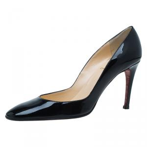 Christian Louboutin Black Patent Miss Cool Pumps Size 38