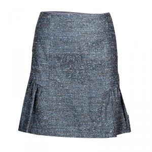 RED Valentino Grey Tweed Skirt M