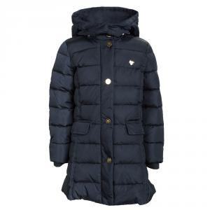 Armani Junior Navy Blue Quilted Hooded Down Jacket 6 Yrs