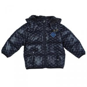 Armani Baby Navy Blue Quilted Hooded Down Jacket 12 Months