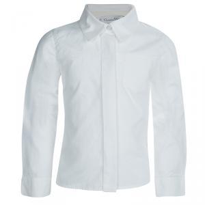 Baby Dior White Long Sleeve Button Down Cotton Shirt 6 Yrs
