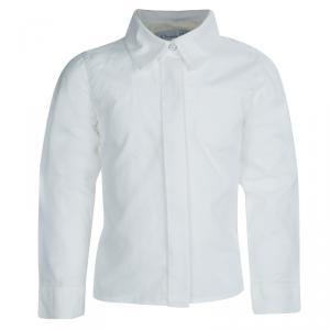 Baby Dior White Long Sleeve Button Down Cotton Shirt 8 Yrs
