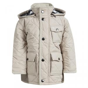 Burberry Beige Diamond Quilted Hooded Jacket 3 Yrs
