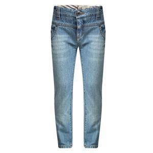 Burberry Indigo Light Wash Denim High Waist Jeans 4 Yrs