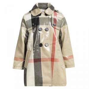 Burberry Beige Patent Novacheck Trench Coat 3 Yrs