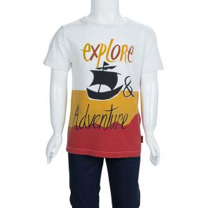 Burberry Chldren Multicolor Printed Crew Neck T-Shirt 6 Yrs
