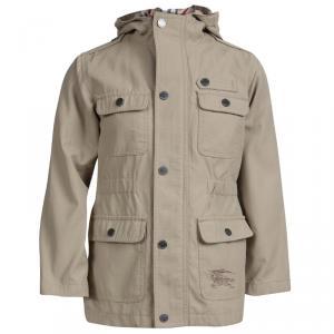 Burberry Beige Hooded Jacket 6 Yrs