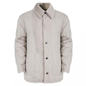 Burberry Beige Corduroy Trim Detail Quilted Jacket 10 Years