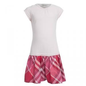 Burberry Pink Jersey Novacheck Bottom Dress 8 Yrs