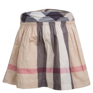 Burberry Novacheck Cotton Gathered Skirt 6 Yrs