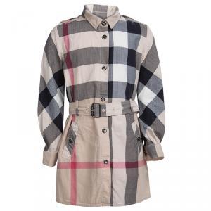 Burberry Novacheck Cotton Belted Shirt Dress 6 Yrs