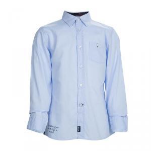قميص سيزار باشيوتي قطن أزرق بأكمام طويلة وأزرار أمامية 6 سنوات