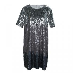 Chloe Silver All Over Sequin Embellished Knit Dress 10 Yrs