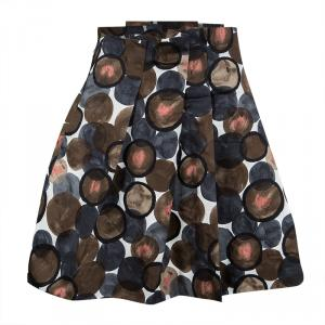 Christian Dior Multicolor Printed Cotton Pleated Skirt 8Yrs