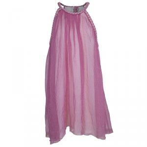 Dior Striped Chiffon Braided Edging Detail Sleeveless Dress 10 Yrs