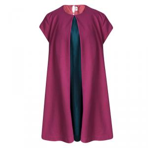 فستان فندي كيدز وردي أجزاء متباينة مزينة أكمام قصيرة 12 سنة