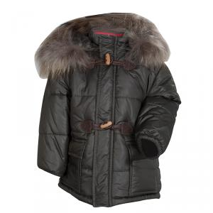 GF Ferré Olive Green Quilted Hooded Puffer Jacket 18 Months