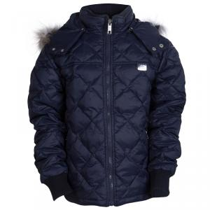 GF Ferré Navy Blue Quilted Hooded Jacket 10 Yrs