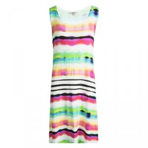 Junior Gaultier Multicolor Printed Jersey Sleeveless Dress 12 Yrs