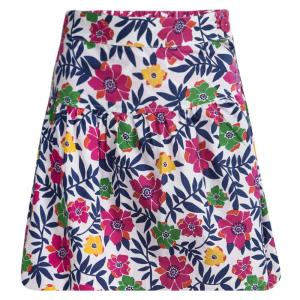 Kenzo Kids Multicolor Floral Printed Cotton Skirt 12 Yrs