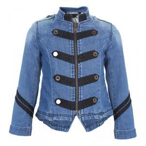Little Marc Jacobs Contrast Lurex Embroidered Denim Jacket 5 Yrs