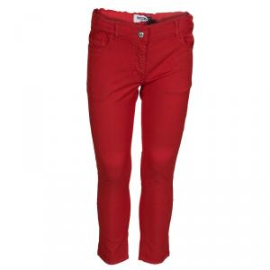 Moschino Kids Red Cotton Trousers 6 Yrs