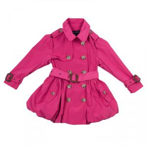 Ralph Lauren Pink Belted Bubble Trench Coat 2 Yrs