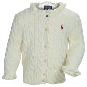 Ralph Lauren Off-White Cable Knit Cardigan 9 Months