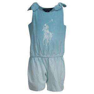 Ralph Lauren Turquoise Blue Dip Dyed Sleeveless Playsuit 18 Months