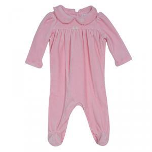 Ralph Lauren Baby Pink Velvet Onesie 3 Months