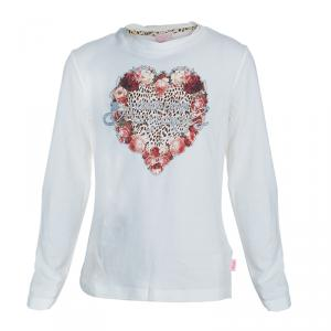 Roberto Cavalli Angels Cream Heart Logo Print Long Sleeve Tshirt 10 Yrs