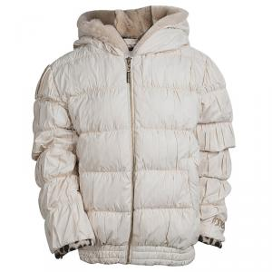 Roberto Cavalli Angels Off white Puffer Jacket 10 Yrs