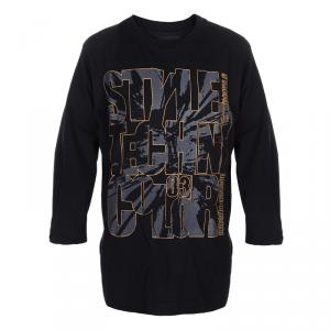 Roberto Cavalli Devils Black Rubber Graphic Print Long Sleeve Tshirt 8 Yrs