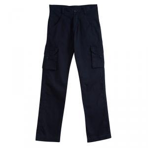 Tartine Et Chocolat Navy Blue Cotton Cargo Pants 10 Yrs