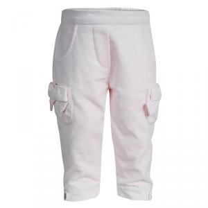 Tartine Et Chocolat Pale Pink Velvet Bow Detail Pants 1 Yr