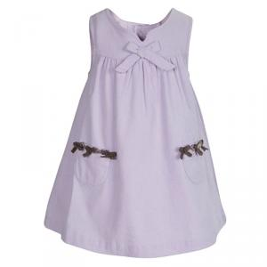Tartine Et Chocolat Lilac Corduroy Bow Detail Sleeveless Dress 1 Yr