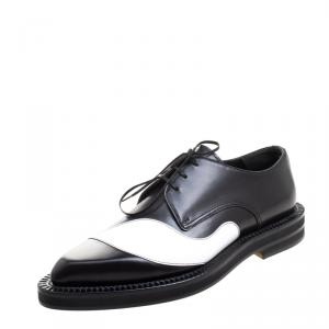 Alexander McQueen Monochrome Leather Lace Up Derby Size 42