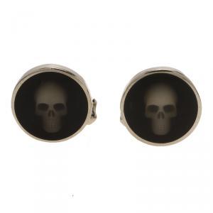 Alexander Mcqueen Black Skull Hologram Cufflinks