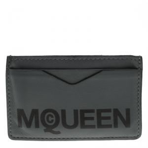 Alexander McQueen Grey Leather Card Holder