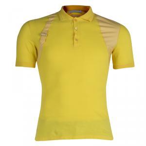 Alexander McQueen Yellow Buckle Detail Polo T-Shirt  XS