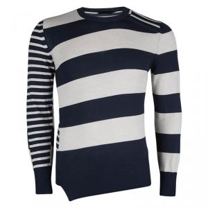 Alexander McQueen Striped Wool Crew Neck Sweater S