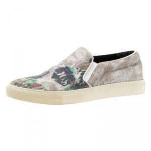 Alexander McQueen Grey Camo Skull Skater Shoes Size 42.5