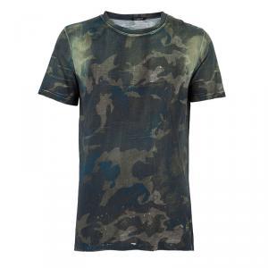 Balmain Mens Camouflage T-Shirt L
