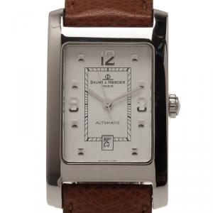 Baume & Mercier White Stainless Steel Hampton Men's Wristwatch 25MM