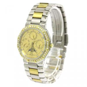 Baume & Mercier Gold 18K Yellow Gold and Stainless Steel Diamond Riviera Men's Wristwatch 34MM