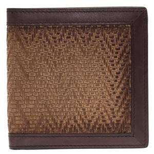 Berluti Brown Woven Leather Bifold Wallet